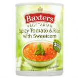 Baxters Vegetarian Spicy Tomato & Rice Soup 400g